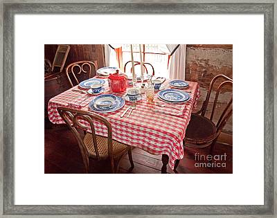 Vintage Kitchen Table Art Prints Framed Print