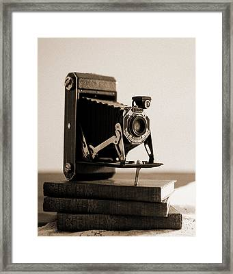 Vintage Kodak 620 Art Deco Camera Framed Print by Jon Woodhams