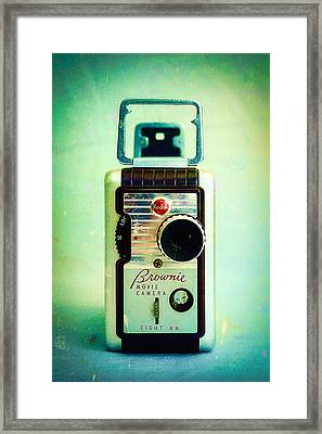 Vintage Kodak Brownie Movie Camera Framed Print by Jon Woodhams