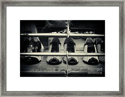 Vintage Ladies' Shoes New York City Framed Print by Sabine Jacobs