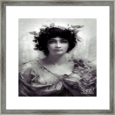 Vintage Lady Framed Print