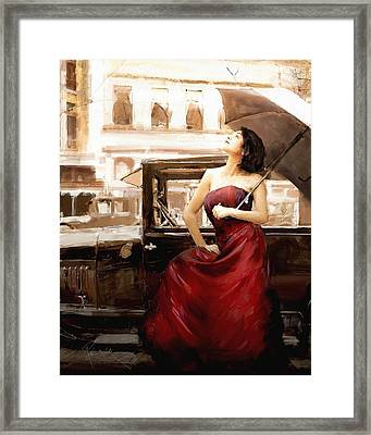 Vintage Lady Framed Print by Robert Smith