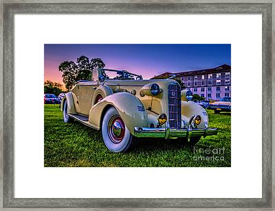 Vintage Lasalle Convertible Framed Print by Edward Fielding