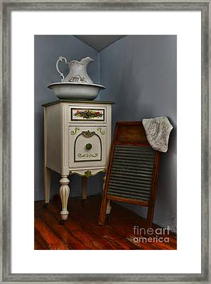 Vintage Laundry And Wash Room Framed Print