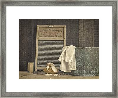 Vintage Laundry Room II By Edward M Fielding Framed Print