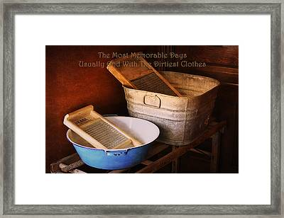 Vintage Laundry Room Framed Print by Maria Angelica Maira