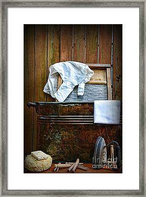 Vintage Laundry Room  Framed Print