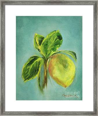 Vintage Lemon I Framed Print