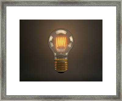 Vintage Light Bulb Framed Print by Scott Norris