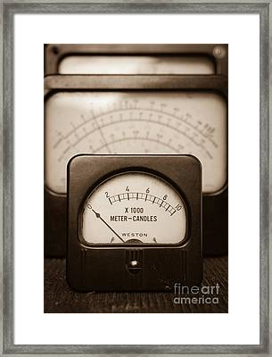 Vintage Light Meter Framed Print by Edward Fielding