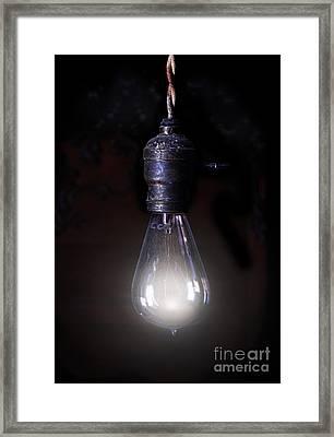 Vintage Lightbulb Framed Print