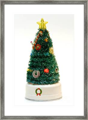 Vintage Lighted Christmas Tree Decoration Framed Print by Amy Cicconi