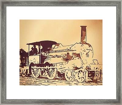 Vintage Locomotive Framed Print