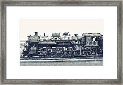 Vintage Locomotive Framed Print by Emily Kay