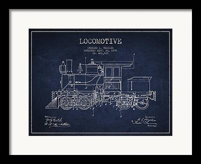 Train Drawing Framed Prints