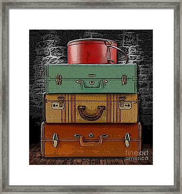 Vintage Luggage Framed Print by Marvin Blaine