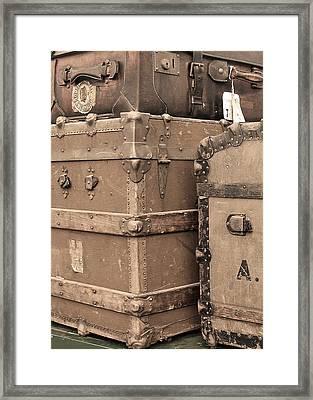Vintage Luggage No. 1 Framed Print by Brooke T Ryan