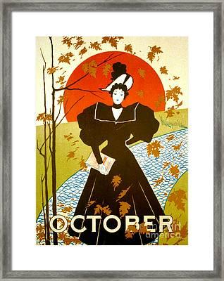 Vintage Magazine Cover 1895 Framed Print by Padre Art