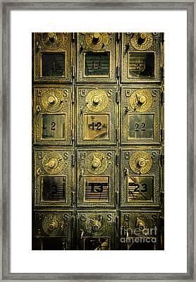 Vintage Mailboxes Framed Print by Jill Battaglia