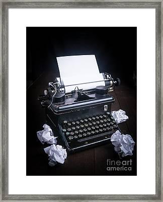 Vintage Manual Typewriter Framed Print