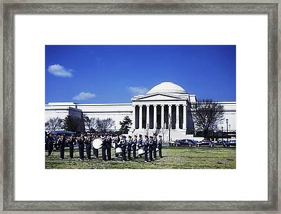Vintage Marching Band 1951 Framed Print by Marilyn Hunt