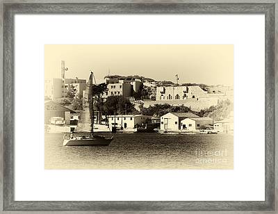Vintage Marseille Sailing Framed Print by John Rizzuto