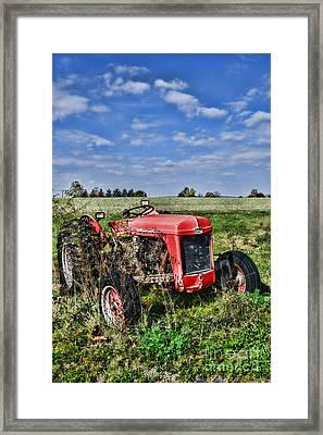 Vintage Massey-ferguson Tractor Framed Print by Paul Ward