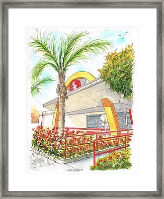 Vintage Mcdonald's In Whittier - California Framed Print by Carlos G Groppa