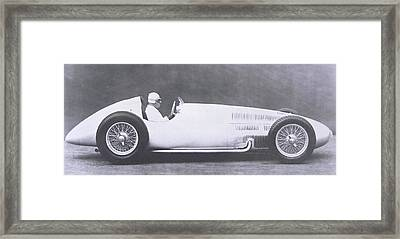 Vintage Mercedes Benz Grand Prix Racing Car Framed Print by German Photographer
