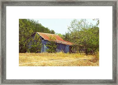 Vintage Metal Barn Framed Print