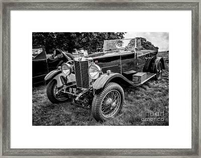 Vintage Mg Framed Print