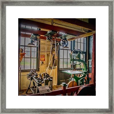 Vintage Michigan Machine Shop Framed Print