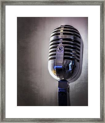 Vintage Microphone 2 Framed Print by Scott Norris