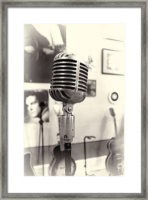 Vintage Microphone Sun Studio Framed Print