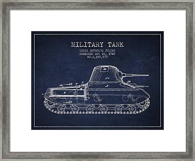 Vintage Military Tank Patent From 1945 Framed Print by Aged Pixel