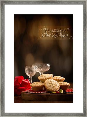 Vintage Mince Pies Framed Print by Amanda Elwell