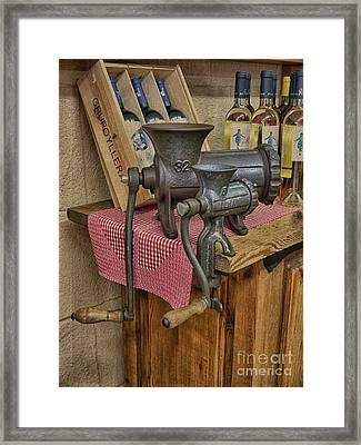 Vintage Mincers Framed Print by Gillian Singleton