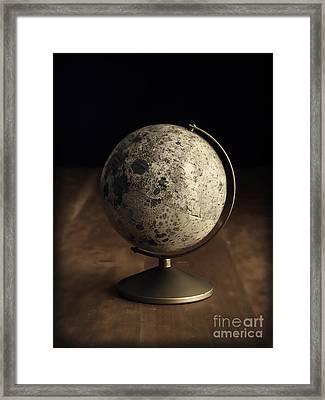 Vintage Moon Globe Framed Print by Edward Fielding