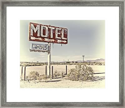 Vintage Motel Pool Sign Framed Print
