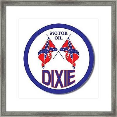 Vintage Motor Oil Dixie Tin Sign Framed Print