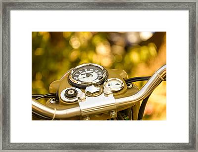 Vintage Motorcycle Dashboard Framed Print by Dutourdumonde Photography