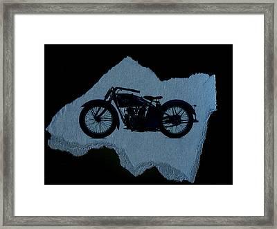 Vintage Motorcycle Framed Print by David Ridley