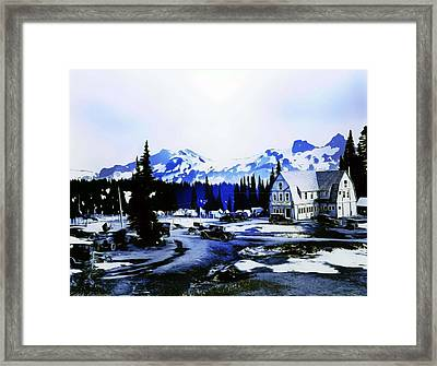 Vintage Mount Rainier Camp And Store Supplies Early 1900 Era... Framed Print by Eddie Eastwood