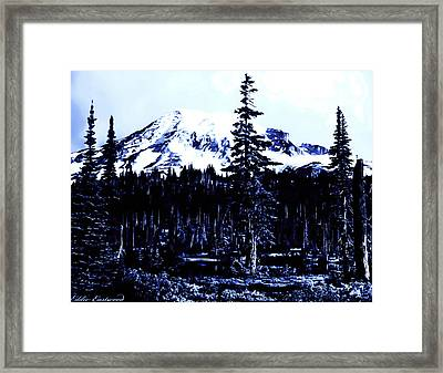 Vintage Mount Rainier Early 1900 Era... Framed Print by Eddie Eastwood