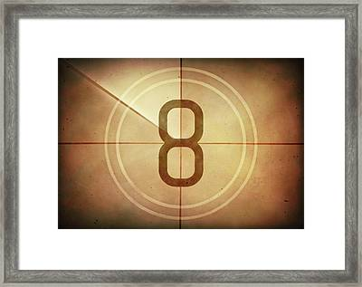 Vintage Movie Countdown Framed Print