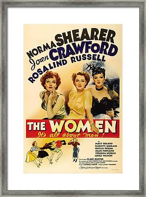 Vintage Movie Poster - The Women 1939 Framed Print by Mountain Dreams