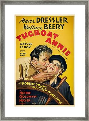 Vintage Movie Poster - Tugboat Annie 1933 Framed Print by Mountain Dreams