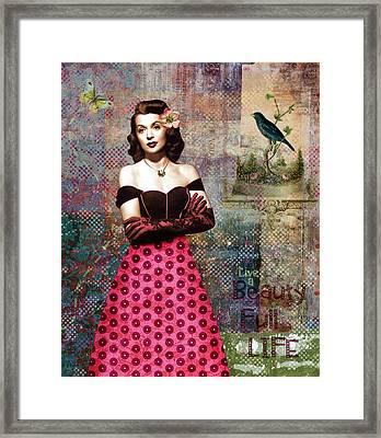 Vintage Movie Star Beauty Full Life Framed Print