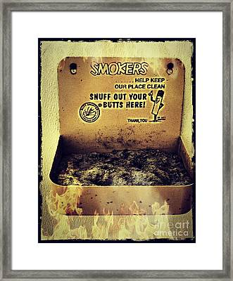 Vintage Mr. Butt Snuffer Ashtray Framed Print