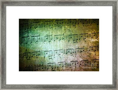 Vintage Music Sheet Framed Print